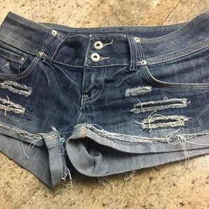 Distressed shorts size 9